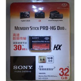 Cartão Sony Memoria Stick Pro-hg Duo Hx 32gb. Psp / Cameras