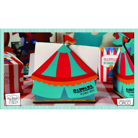 Servilletero Evento Personaliza Madera Circo Carpa Payazos