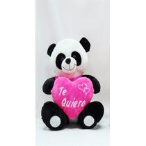 Oso Panda De Peluche Con Corazon De 35 Cm Te Quiero.