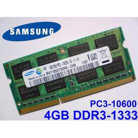 Memória Samsung Ddr3 4gb 1333mhz Pc3 10600s Hp Probook 4530s