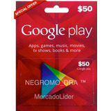 Tarjeta Google Play U$50 Para Apps Ebooks Juegos En Android