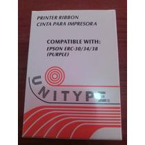 Cinta Original Epson Erc-38 Para Impresoras O Tickeadoras