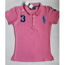 Camiseta Tipo Polo De Dama Hollister, Abrercombie S,m,l,xl