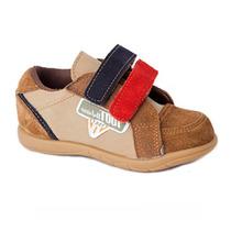 Zapato Urbano Con Abrojo Cuero Toot Modelo Gerard