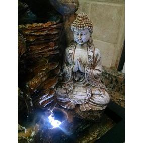 fuente de agua buda video con luz suerte zen feng shui