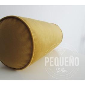 Almohadones Tubo Caramelo Con Funda De Pana 40x18cm