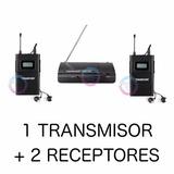 Sistema Monitoreo Inalámbrico In-ear Doble (con 2 Receptor)