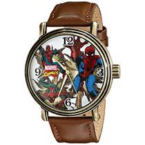 W Hombre Araña Analógico De Cuarzo Reloj De Brown De Los Ho