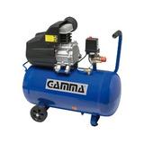 Compresor De Aire 2 Hp 50 L Gamma + Kit 5 Piezas Profesional