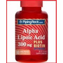 Acido Alfa Lipoico 300mg + Biotina 90 Cápsulas Usa