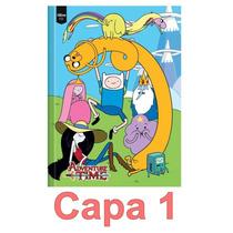 4 Cadernos Brochurão Adventure Time Hora Aventura 96 Folhas