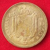 Jm * España 2 Pesetas Y Media 1953 Xf Escasa