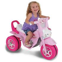 Mini Moto Motinha Elétrica Infantil Triciclo Hello Kitty