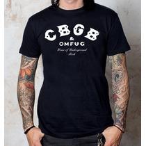 Camiseta Cbgb Omfug,ramones,motociclista,rock,underground
