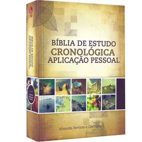 Bíblia De Estudo Cronológica Aplicação Pessoal / Capa Dura