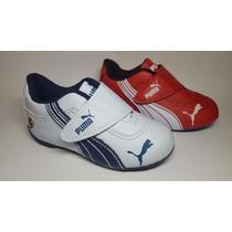 Tenis Puma Ferrari Infantil Bebe Branco E Azul Tamanho 17