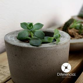 Maceta Decorativa De Concreto/cemento