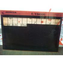 Antiguo Service Manual Planta De Luz Honda E / Es4500 1979