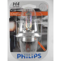 Lampada H4 City Vision 40% + Luz 35/35w Philips Titan,ybr
