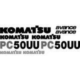 Kit Adesivos Mini Escavadeira Komatsu Pc50uu Avance Pc50uu