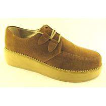 Zapatos Creepers Plataforma Base Goma Chatas Oferta Liquidac