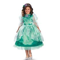 Disfraz Disney Ariel Sirenita Sirena Niña Talla 7 A 8 Años