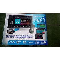Soundstream Doble Din Bluetooth Gps Navy Usb Auxiliar Dvd