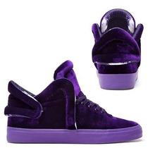 Supra Falcon Purple Velvet S78011 Skate Board Lil Wayne