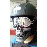 Mascara Caveira P/ Capacete Aberto / Motociclista