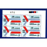 F- Uruguay 1986 - Batalla De Carpinteria- Block X4
