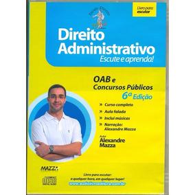 Cd Lacrado Audio Livro Direito Administrativo Escute E Apren