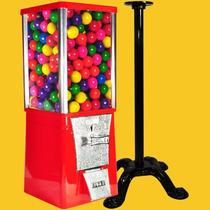 Maquina Chiclera $2 + Pedestal + 470 Chicle Bola 1 Pulgada