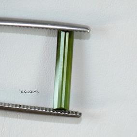 Turmalina Verde -comprida -cod:w10 -t.13.5x3x2.0mm