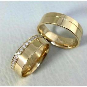 Par De Alianças Ouro 18k 14 Gramas 7mm Casamento Promoção