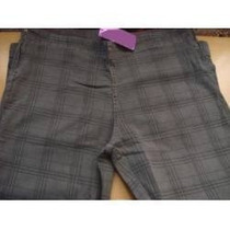 Calça Jeans Skinny Cinza Xadrez Moda Grande Plus Size G3 52