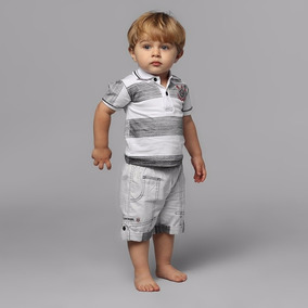 Conjunto Corinthians Infantil Camisa Polo + Bermuda Oficial