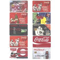 10 Tarjetas De Telefono De Mexico De Coca Cola Diferntes