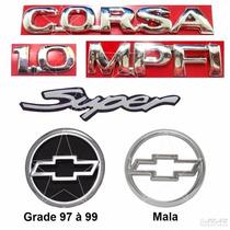 Kit Emblemas Corsa Hatch 1.0 Mpfi Super - 1997 À 1999