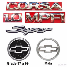Kit Emblemas Corsa Hatch 1.0 Mpfi Super - 1997 À 1999