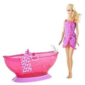 Juguete Barbie Bañera Y Muñeca Barbie Playset