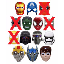 20 Máscaras Led Heróis Marvel Dc Comics Star Wars Variadas