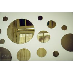 kit espejos redondos circulares bao living comedor