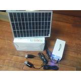 Kit Painel Solar 10 Wats+2 Lampadas Led+controlador Carga+ba