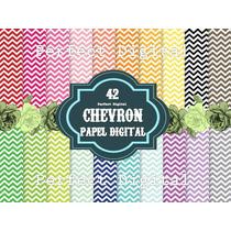 42 Láminas Decoupage Sublimación Chevron Kit Imprimible 2x1