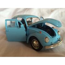 Miniatura Volkwagen Fusca Nacional Coleção Escala 1:32 13 Cm