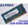 Memorias Sodimm Ddr2 2gb 800mhz Pc2-6400 Notebook Garantia