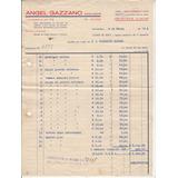 1948 Boleta Venta Angel Gazzano Rematador Montevideo Vintage