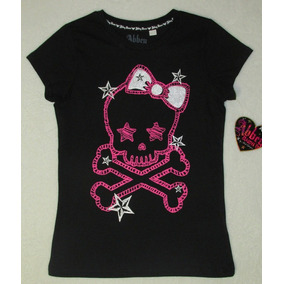 Blusa Pink Skull Abbey Dawn By Avril Lavigne + Pulseiras