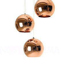 Pendente 30cm Bola Cobre Globo Bronze Tom Dixon Vidro Copper