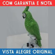 Escultura Ave De Porcelana Vista Alegre Original C/ Nota